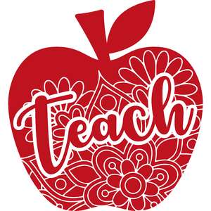 teach apple mandala