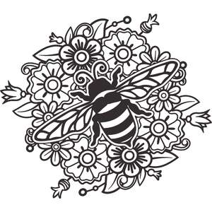 bee and flower mandala