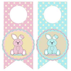 bunny bottle tags