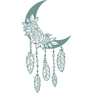 floral moon dreamcatcher