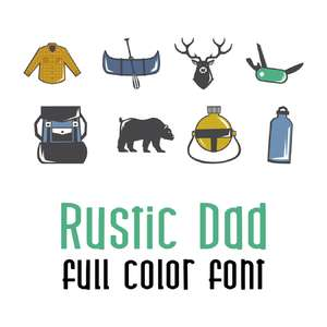 rustic dad full color font
