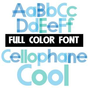 cellophane cool color font