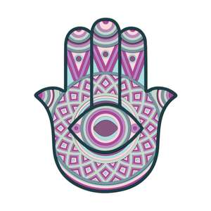 3d layered hamsa hand multi layer mandala