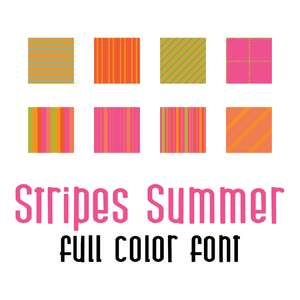stripes summer full color font