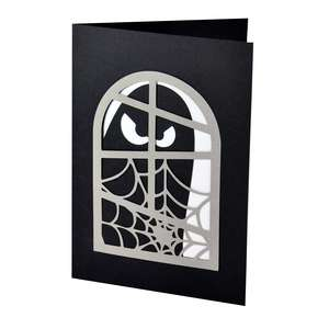 halloween ghostly window card
