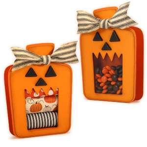 halloween jack wide mouth candy tote