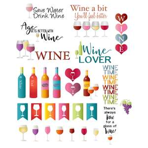 wine planning stickers