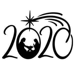 2020 christmas design with nativity scene