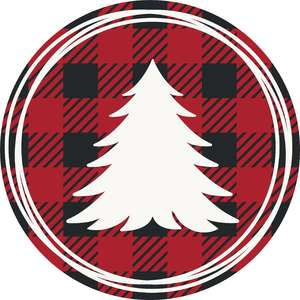 plaid christmas tree frame