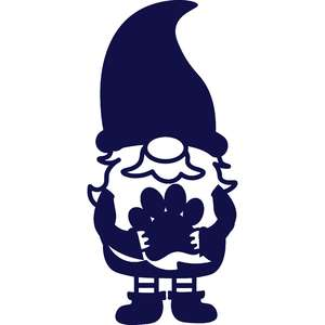 gnome with paw print