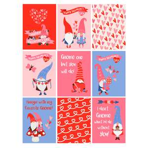 gnome valentine's day cards