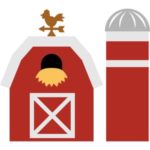 barn and silo farm