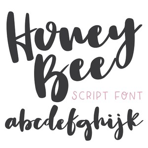 dtc honey bee brush font