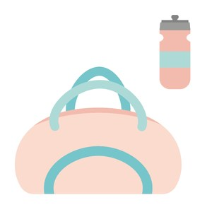 gym bag and water bottle