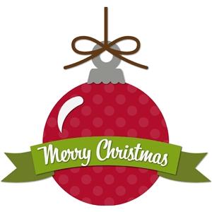 Silhouette Design Store - View Design #35867: 'merry christmas' ornament