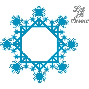 snow flake frame & tag