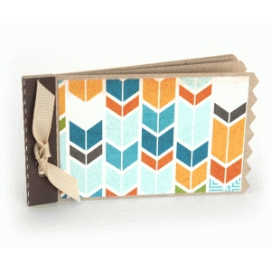 mini album with chevron edge