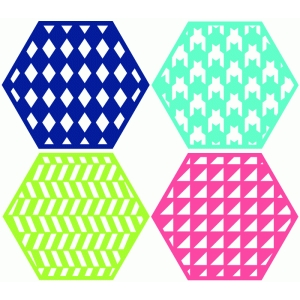 pattern hexagons