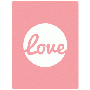 love 3 x 4 journaling card