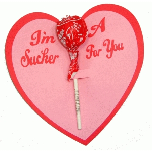 i'm a sucker for you lollipop card