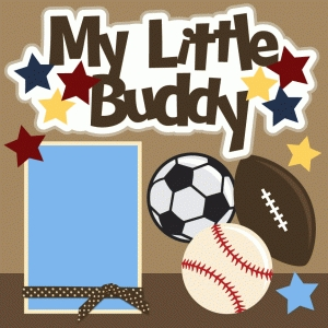 my little buddy single scrapbook page kit