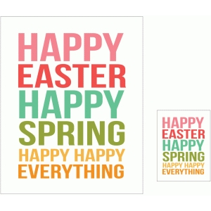 happy easter happy spring print and cut quote card
