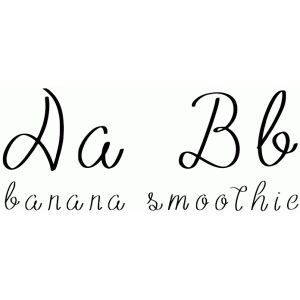 banana smoothie font