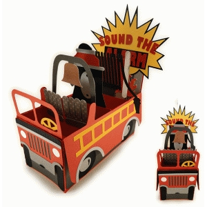 fire truck 3d box card