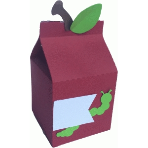 apple and worm box