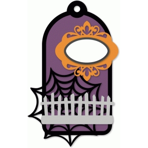layered halloween tag kit - fence & web
