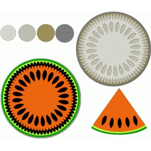watermelon circles w/matching label