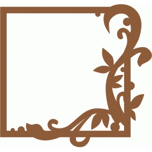 flourish frame (square)