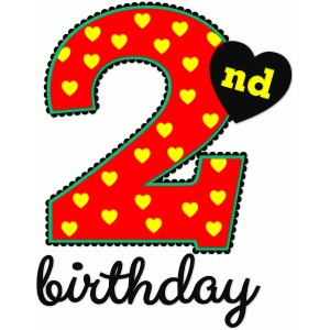 2nd birthday - nested