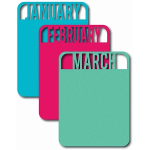 january, february, march cards set 1