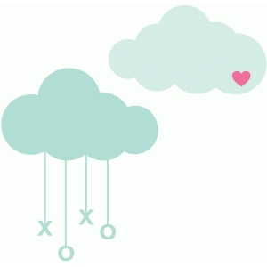 valentine love clouds
