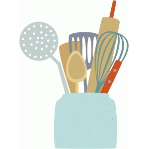 jar of cooking utensils