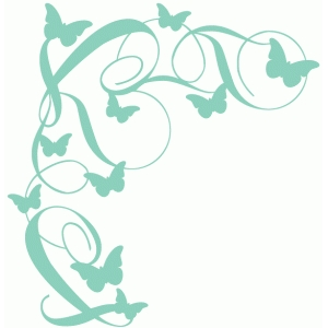fancy flourish butterfly corner