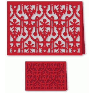 ornate brocade folded card