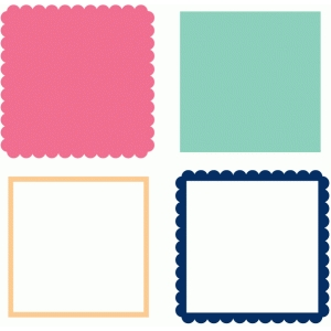 scallop and plain square frames and mats