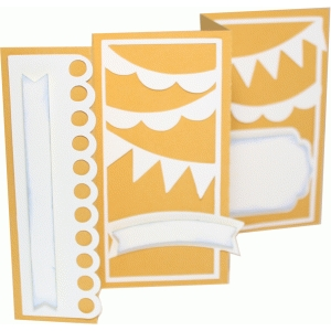 accordion fold card - banners
