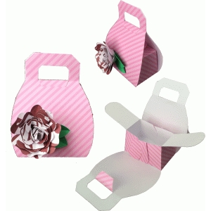 purse with rose favor box