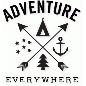 'adventure everywhere' word art