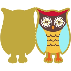 animal owl card