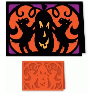 halloween terrier dogs card