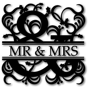 holly ampersand split monogram
