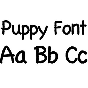 puppy font