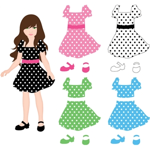 dress for lizzy paper doll