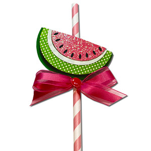 watermelon straw slider