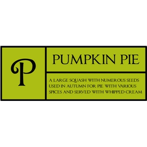 p is for pumpkin pie pc