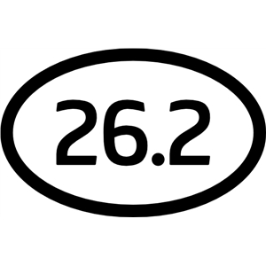 marathon car sticker
